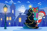 Winter scene with Christmas theme 7