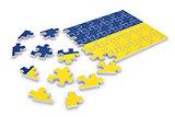 Ukraine puzzle flag