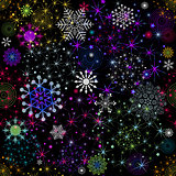 Seamless colorful christmas pattern