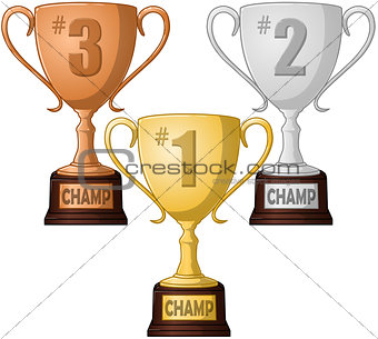 First Second and Third Place Trophy Pack