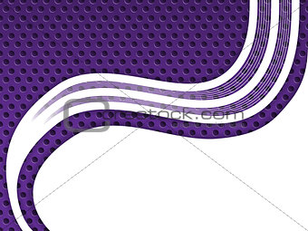 Abstract purple background with white waves