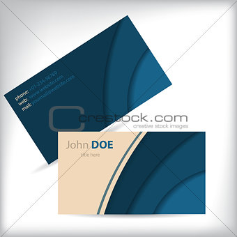 Business card design with wave pattern