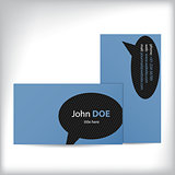 Simple business card design with speech bubble