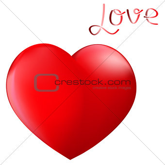 Perfect red heart