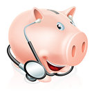 Happy healthy piggy bank
