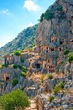 Rock-cut Lycian tombs in Demre