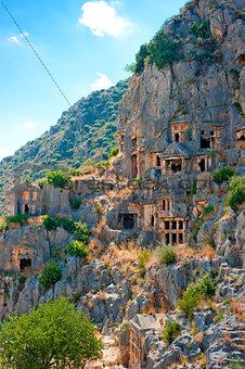 Rock-cut Lycian tombs in Demre