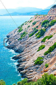 Picturesque views of the rocky shore