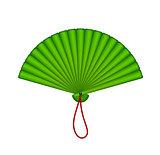 Green oriental fan