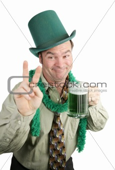 St Paddy's Day Drunk - Peace Sign