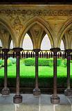 Mont Saint Michel cloister garden