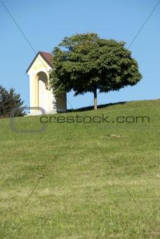 Chapel on field