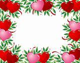 Valentines heart frame