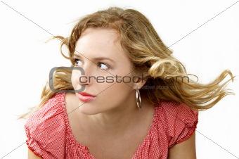 blown hair