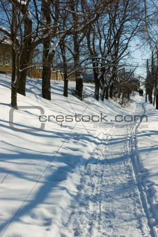 Winter day at Suzdal, Russia