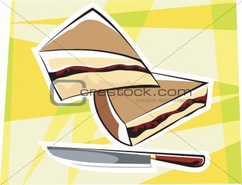 Cake and knife