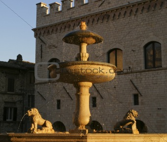 Fountain In Italy