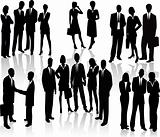 Lots of people business team vectors