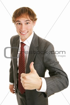 Young Businessman Thumbs-up
