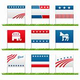 Election campaign political yard signs