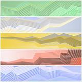 Zigzag banners