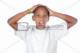 boy shouting madly