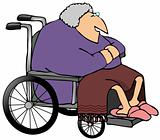 Old Woman In A Wheelchair