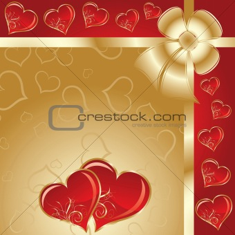 Valentines floral background, vector