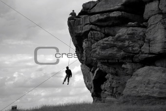 Climber on a rope