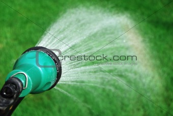 Watering creating a raindow