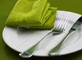 Green Table Setting