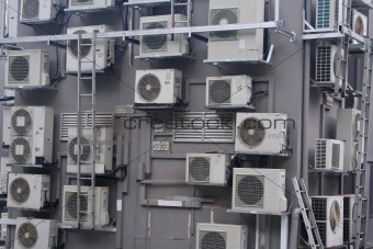 A crowd of aircons