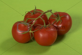 tomato over green