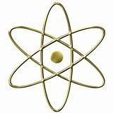 Golden Atom Symbol