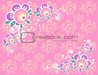 medium pink background