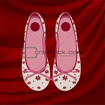 Artistic decor design vector shoes illustration