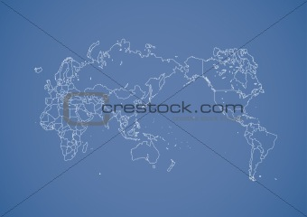 Simple stroked world map