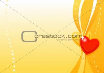 Valentine golden wallpaper 2