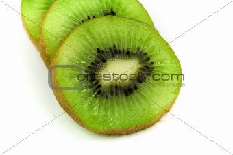 Slices of green kiwi