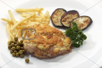 appetizing chicken with garnish