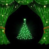 Christmas open curtain