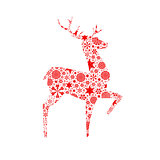 Silhouette deer. Christmas card