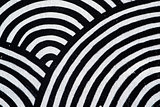 Abstract texture, concentric black and white circles