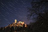 Sacred Mount of Varese, star trails