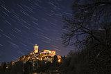 Sacred Mount of Varese, star trails