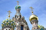 "SAINT PETERSBURG, RUSSIA - JULY 2013: A part of ""Church of the Savior on Blood""."