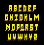 3d font type. Vector alphabet