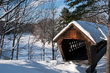 Snow Covered Bridge in New England