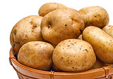 Potato basket close-up