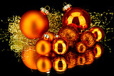 christmas decoration in orange on black